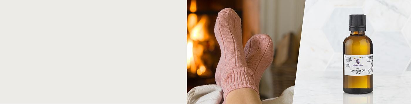 Pure Lavender Oil & Super-soft Bed Socks