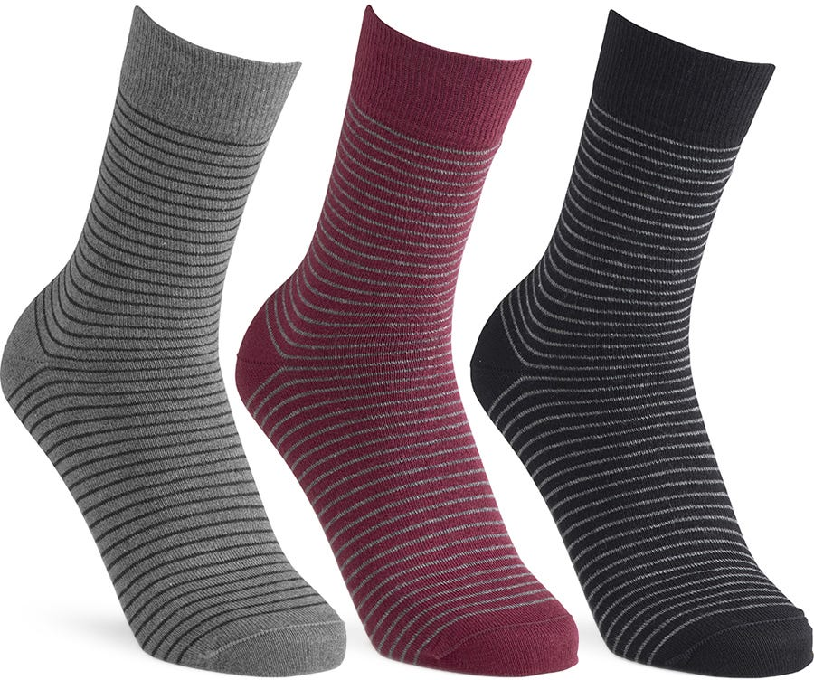 Image of Cosyfeet Extra Roomy Men's Cotton-rich Patterned Socks