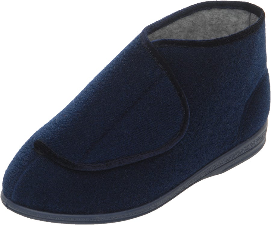 Cosyfeet Eliza Single Slipper Navy - Left Foot