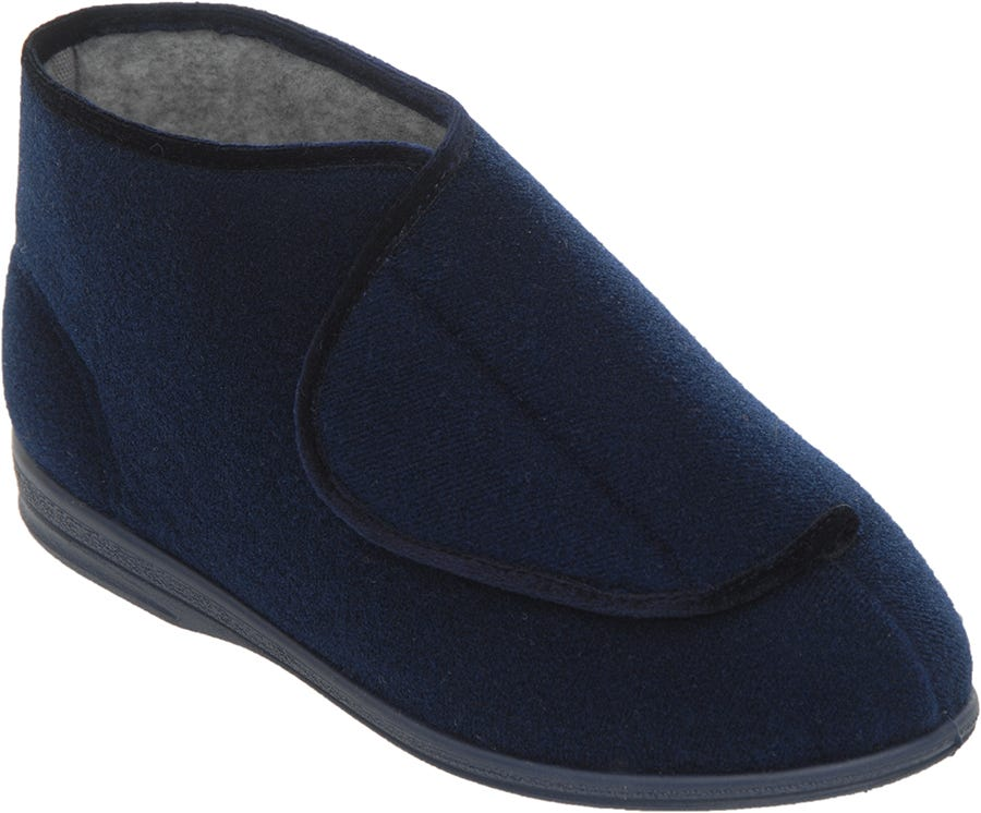 Cosyfeet Eliza Single Slipper Navy - Right Foot