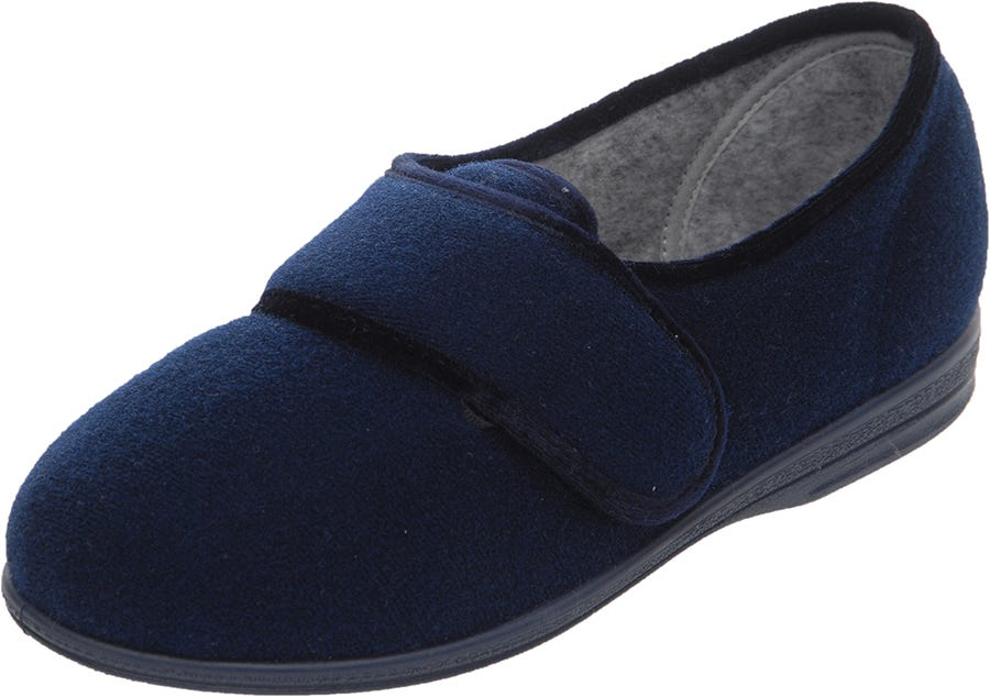 Cosyfeet Helen Single Slipper Navy - Left Foot