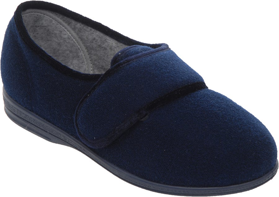 Cosyfeet Helen Single Slipper Navy - Right Foot