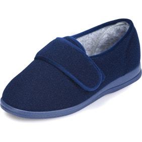 Holly Single Slipper Navy - Left Foot