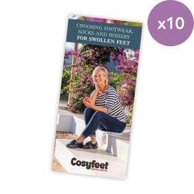 Choosing Footwear, Socks and Hosiery for Swollen Feet Leaflet x 10