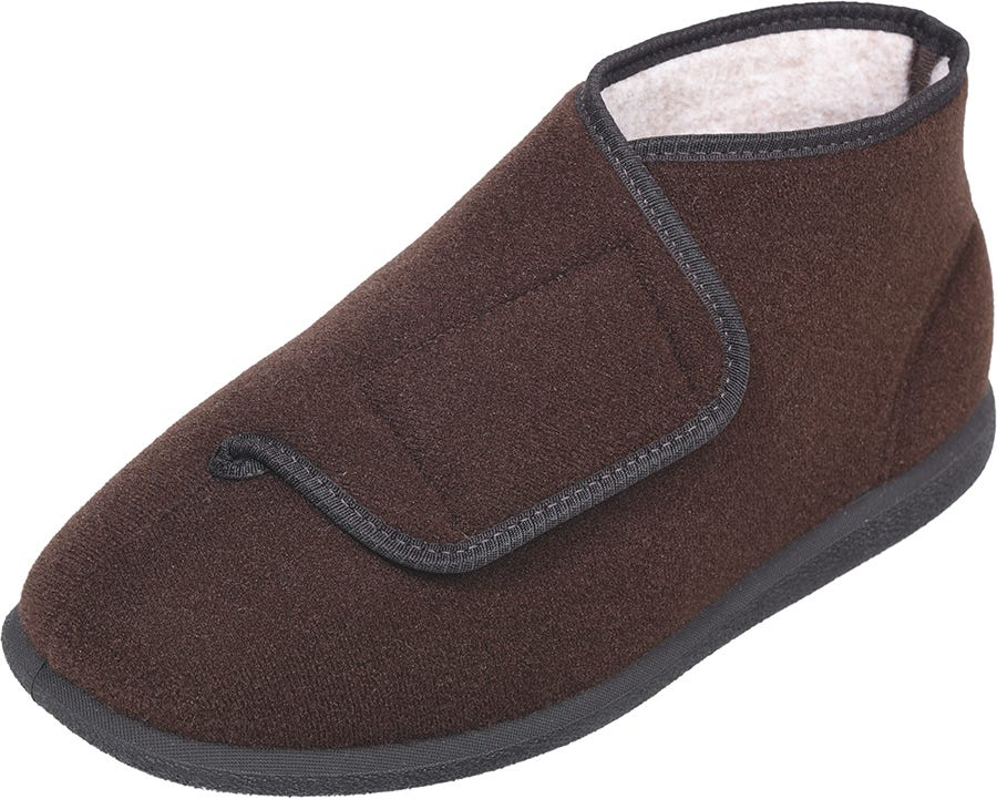 Cosyfeet Robbie Single Slipper Brown - Left Foot