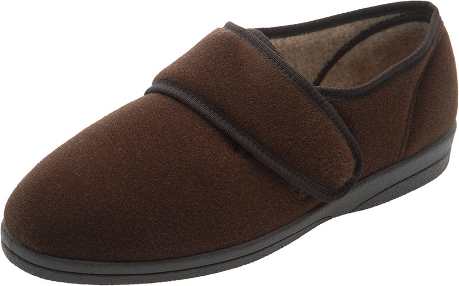Cosyfeet Richard Single Slipper Brown - Left Foot