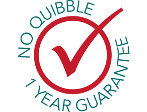 1 Year No Quibble Money Back Guarantee