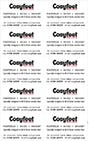 Cosyfeet Contact Card Sheet