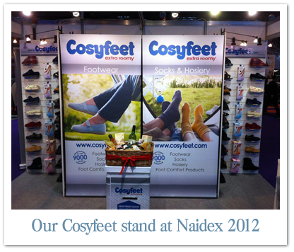 Cosyfeet stand at Naidex 2012