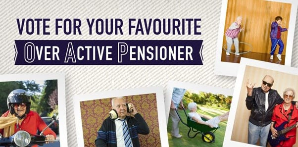 Vote for Britain's most over-active pensioner!