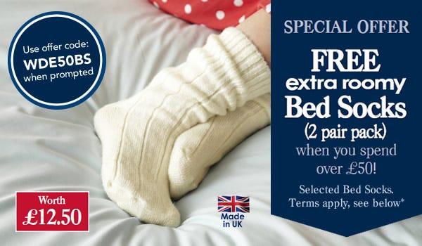 Bed sock offer