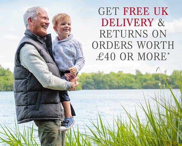 Free delivery & returns on orders worth £40 or more*