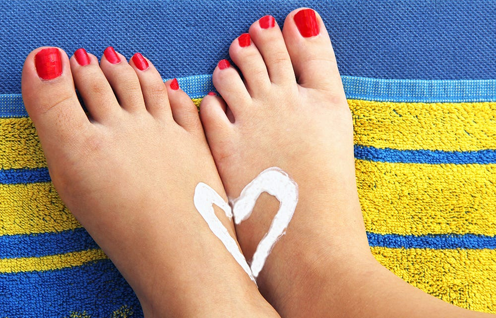 Look after your feet in the sun!