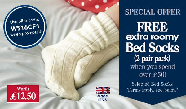 Bed sock offer