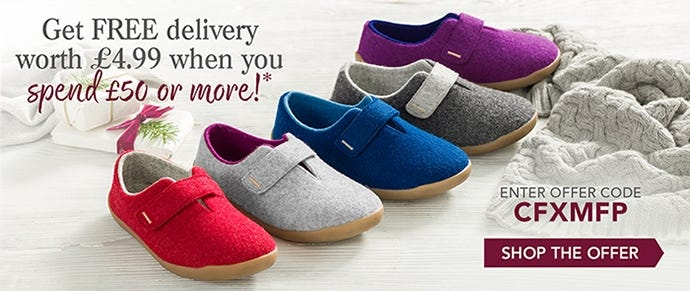 Finish off your Christmas shopping today and get free delivery (UK standard) worth £4.99 when you spend £50 or more.*