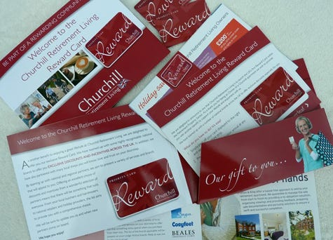 Churchill Retirement Living reward card