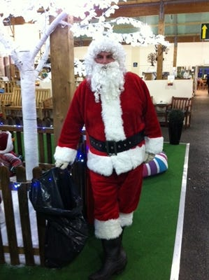 Father Christmas at Monkton Elm garden centre