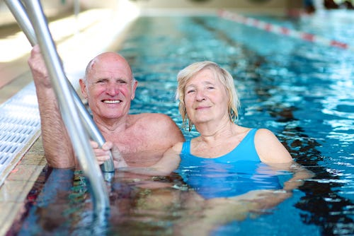 Swimming may lower people's risks of falls
