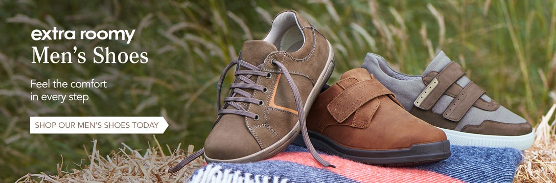 Men's Extra Wide Fitting Shoes | Buy