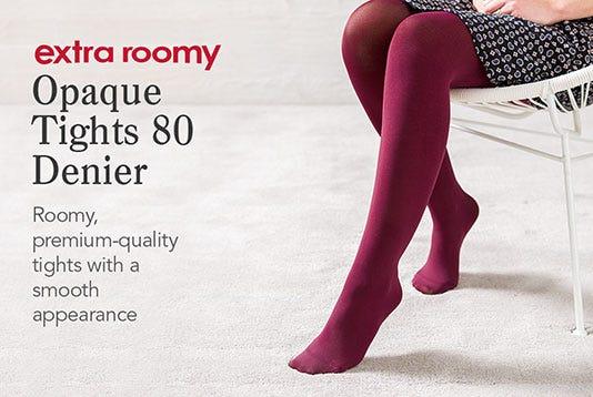 Extra Roomy Opaque Tights 80 Denier