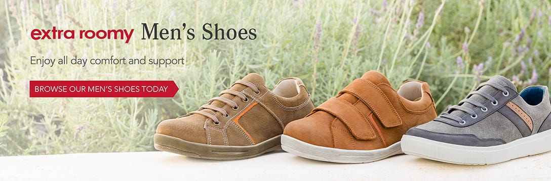 Extra Roomy Men's Shoes