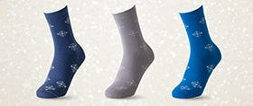 Cotton-Rich Snowflake Socks
