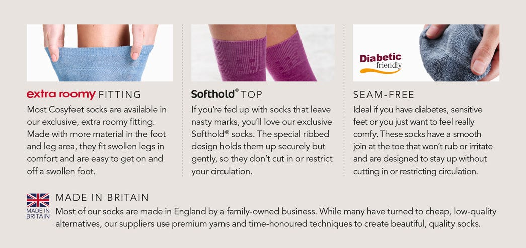 Most Of Our Customers Come On Feet >> Sock Buying Guide Cosyfeet Help