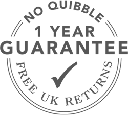 1 Year No Quibble Money Back Guarantee