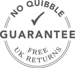 No Quibble Money Back Guarantee with free returns