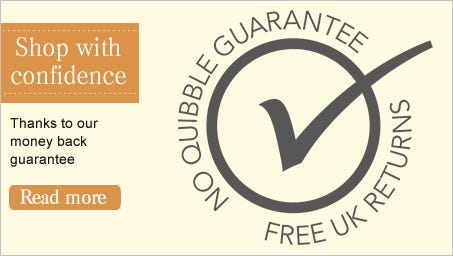 Shop with confidence - Thanks to our money back guarantee