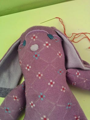 Make a sock bunny