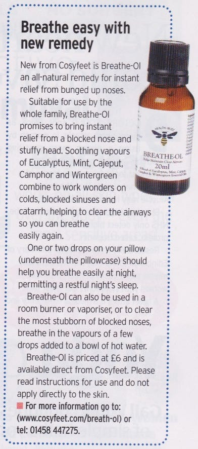 Our Breathe-Ol has has been featured in the Choice magazine...