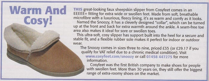 Our Snoozy Slipper has has been featured in the My Weekly magazine...