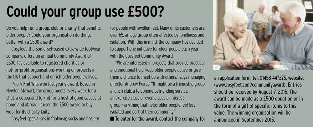 Could your group use £500?