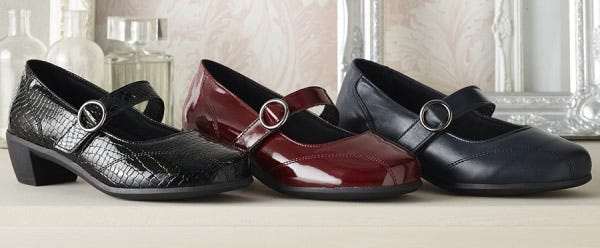 Wide fitting shoes