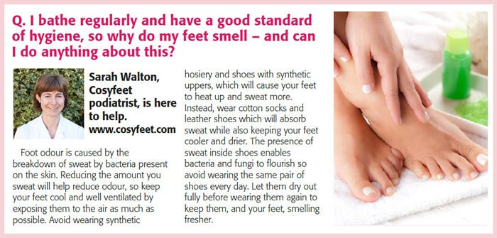 Dealing with foot odour