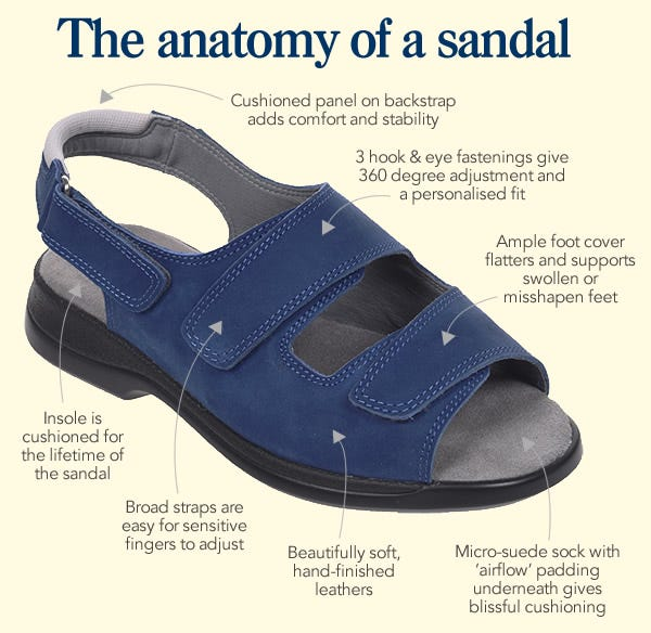 Anatomy of a sandal