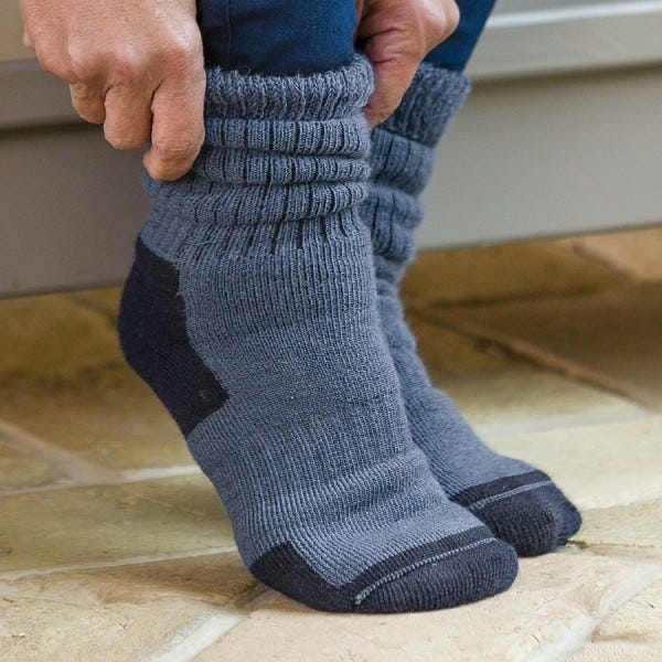 Active Wool Seam‑free Socks
