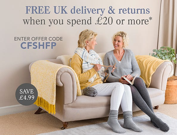 Free UK delivery on socks and hosiery orders*