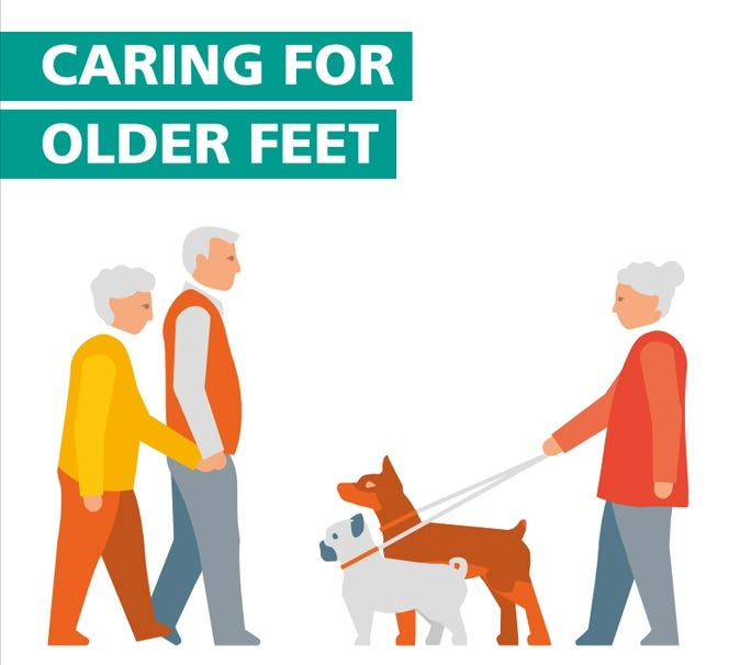 Caring for older feet