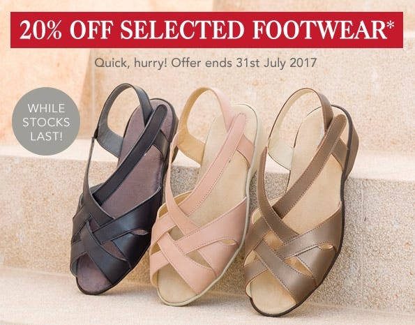 20% Off Selected Footwear
