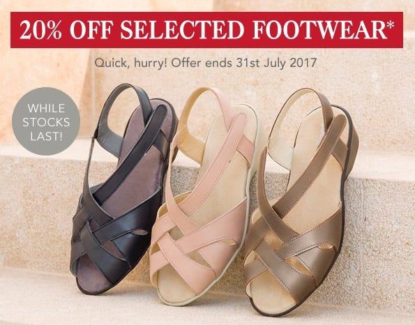 20% Off Selected Footwear