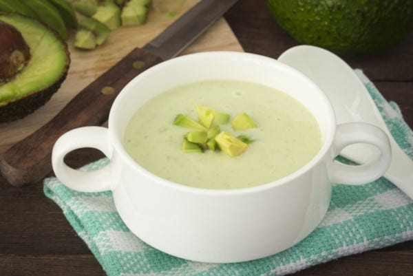 Colombian cream of avocado soup