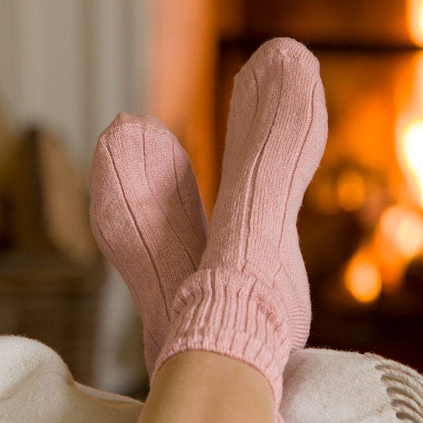 Super-soft Bed Socks in Blush