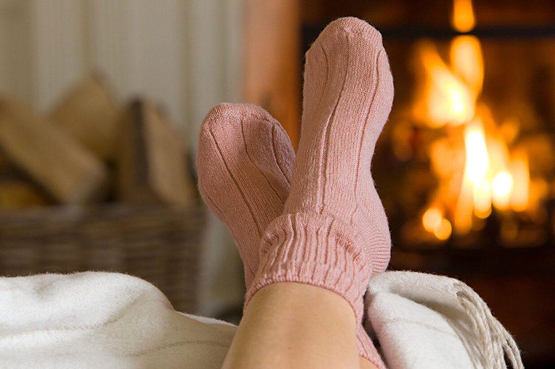Bed Socks in Blush