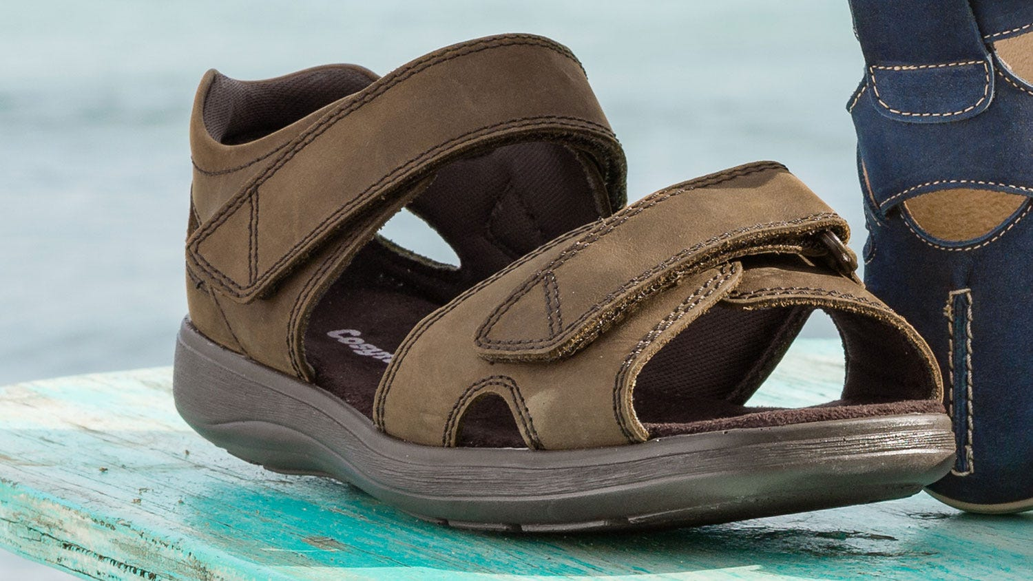 Extra roomy sandal called Bingley