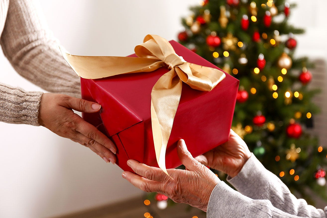 Present giving at Christmas