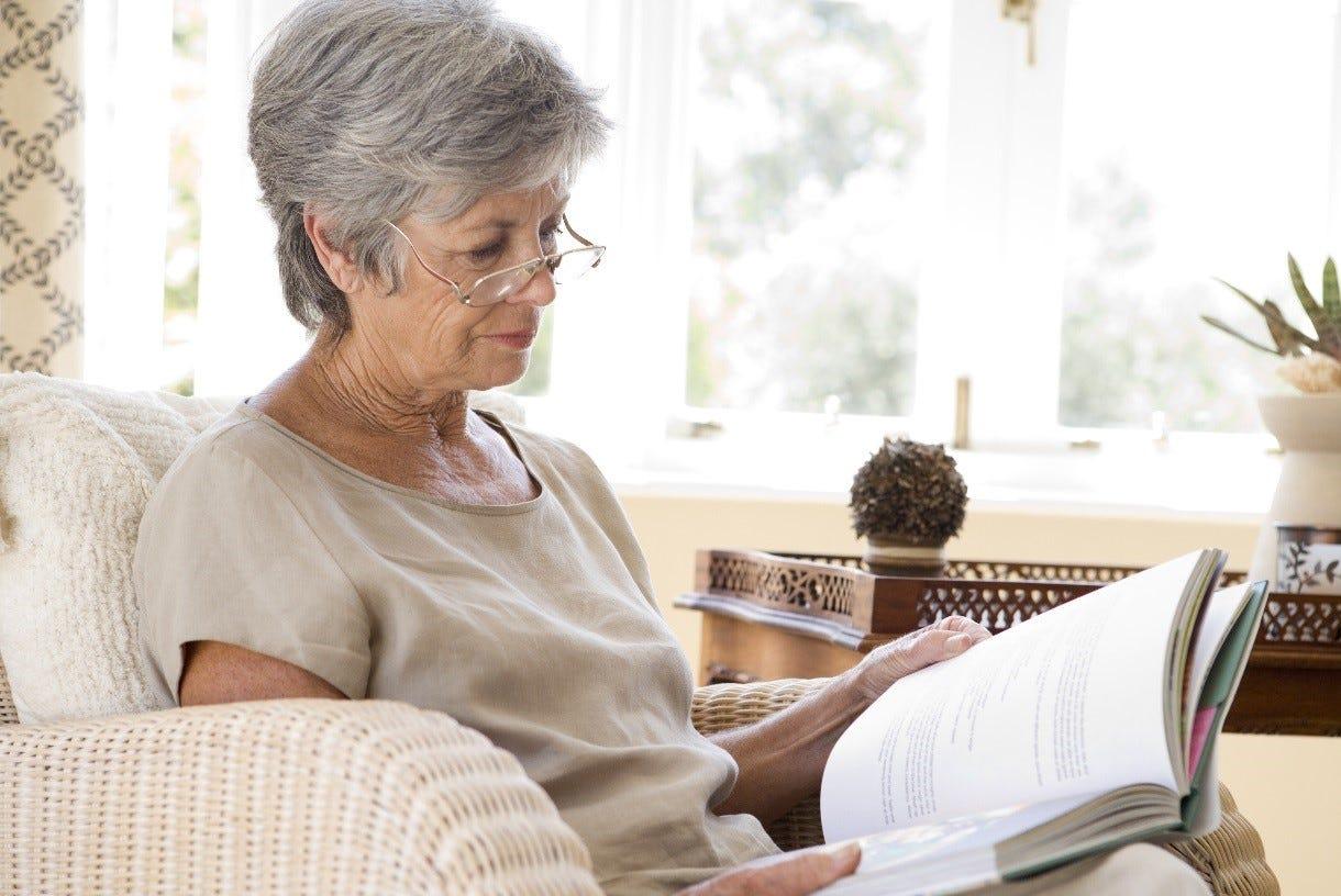 Older Lady Reading