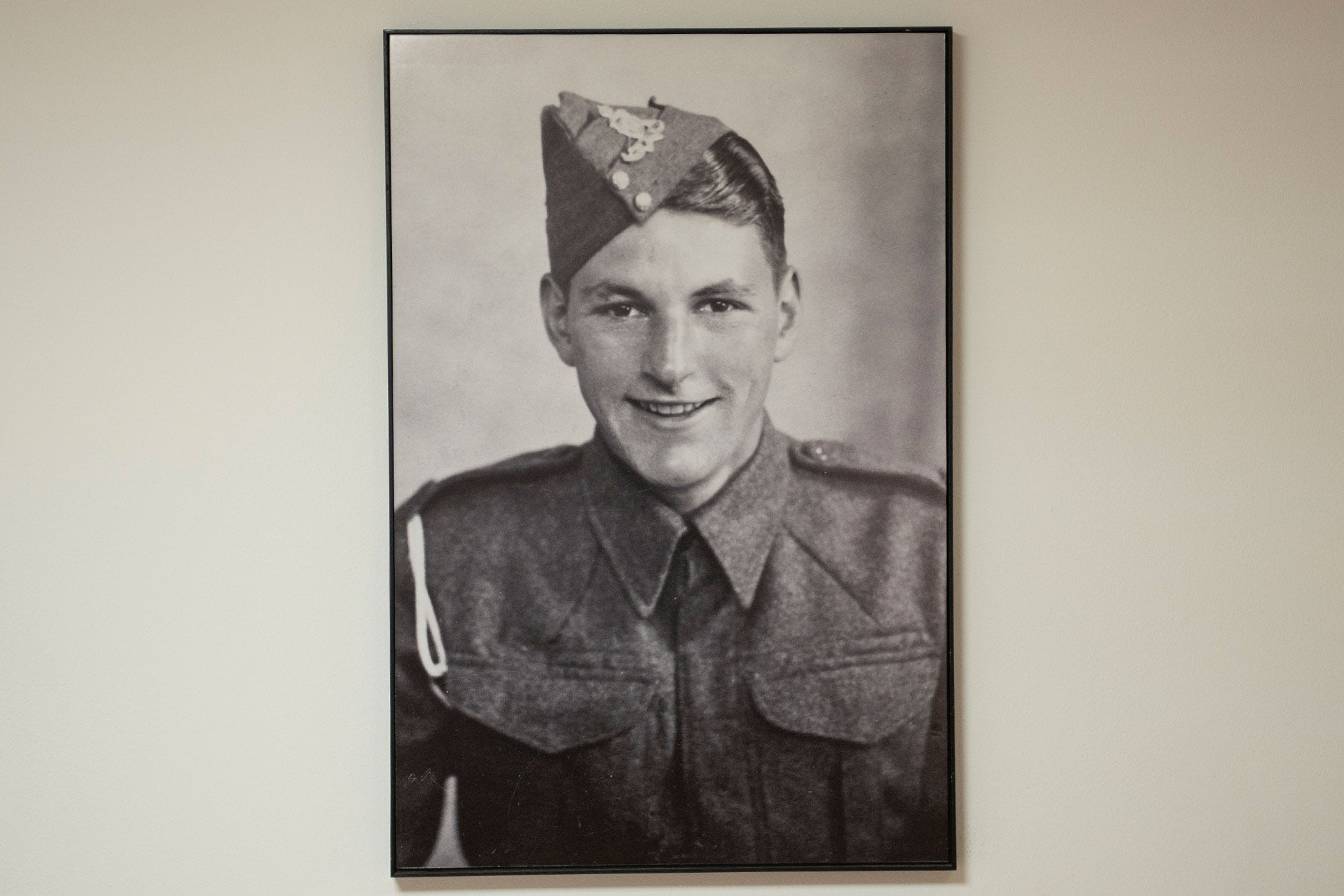 Owen Barry wearing army uniform in 1946