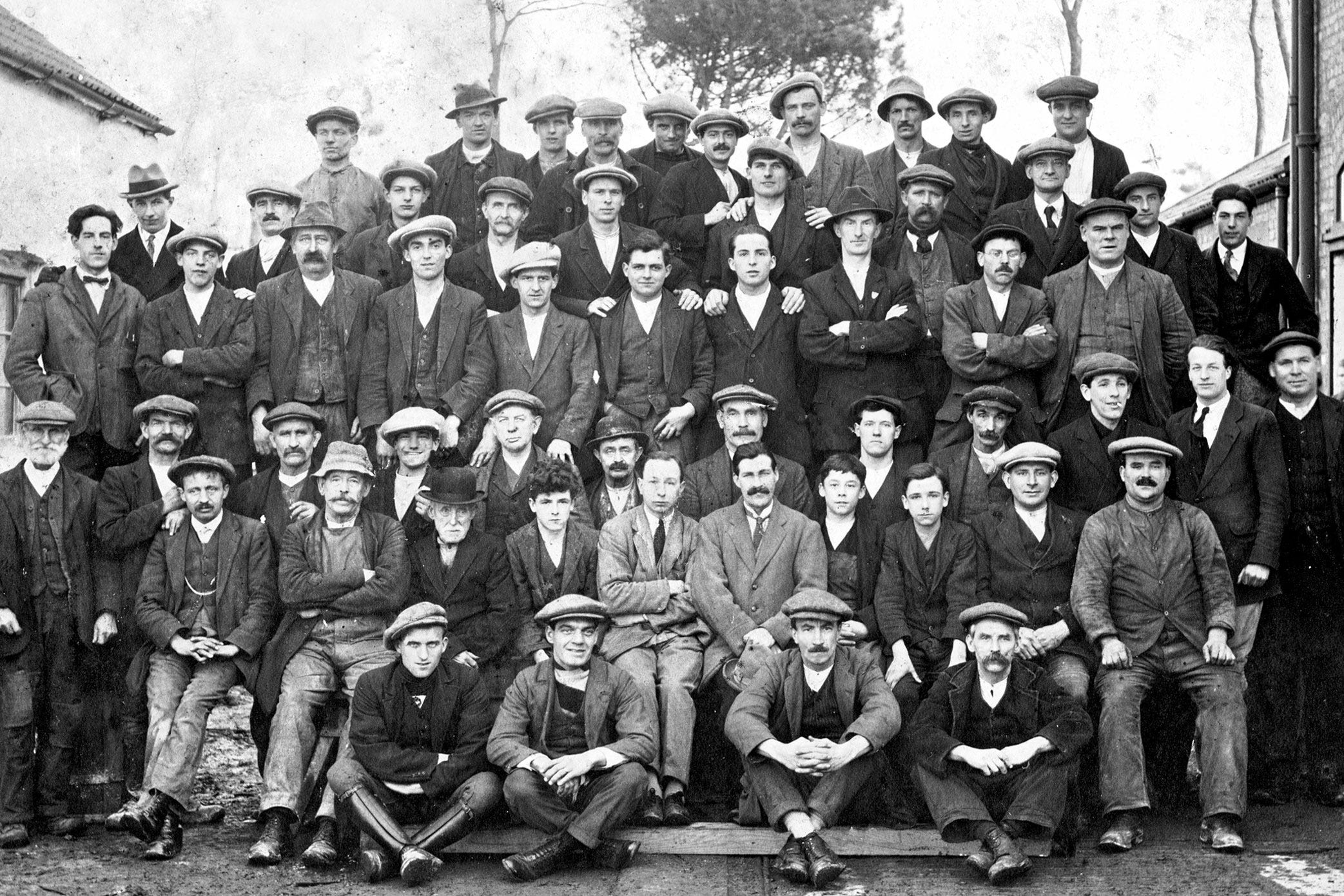 The Tanyard workers in 1935